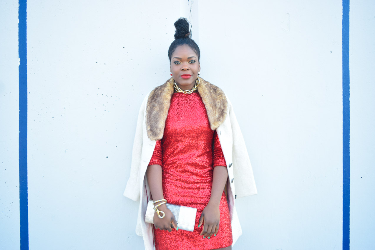 Befitting Style Red Sequins Dress NYFW Day 1 10