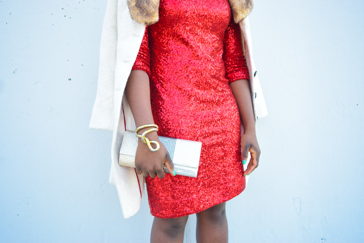 Befitting Style Red Sequins Dress NYFW Day 1 14