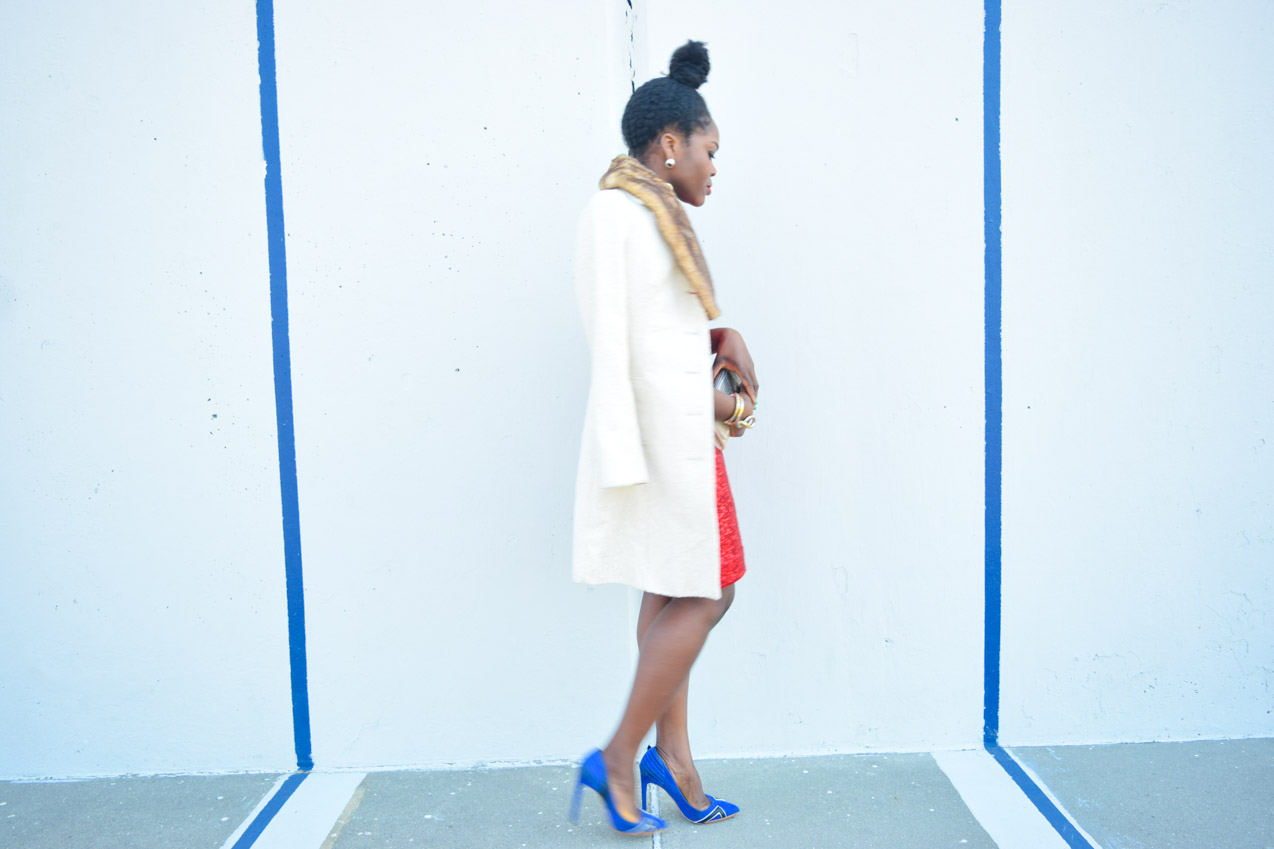 Befitting Style Red Sequins Dress NYFW Day 1 5