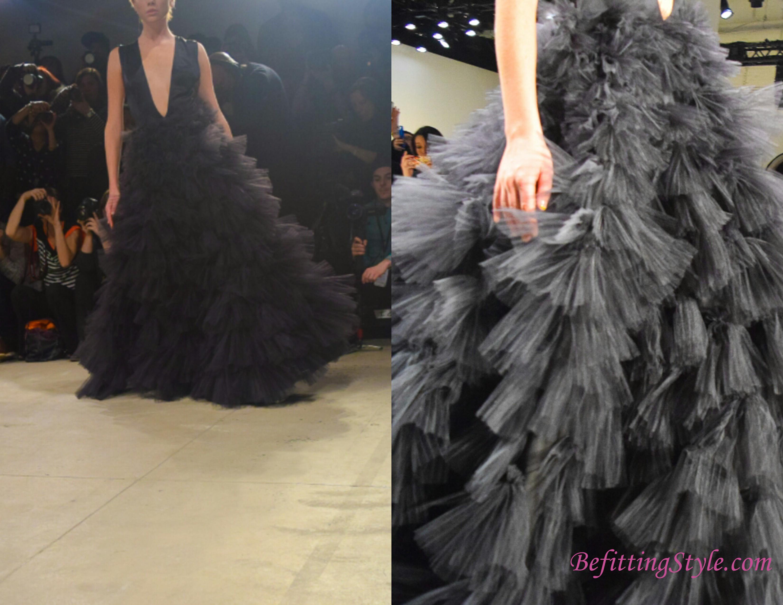 Leanne Marshall FW 16 Black silk charmeuse gown
