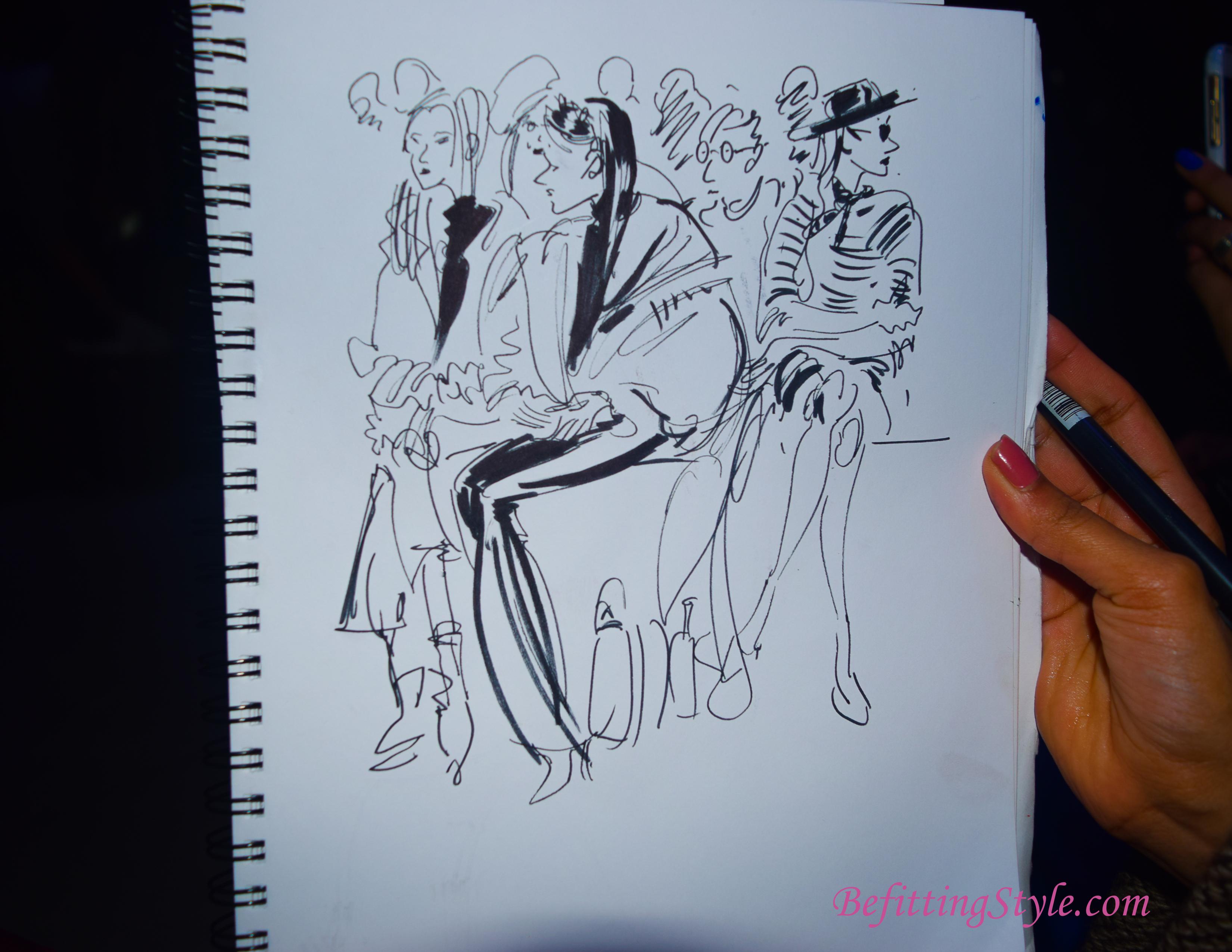 Mokshini sketch Leanne Marshall 1