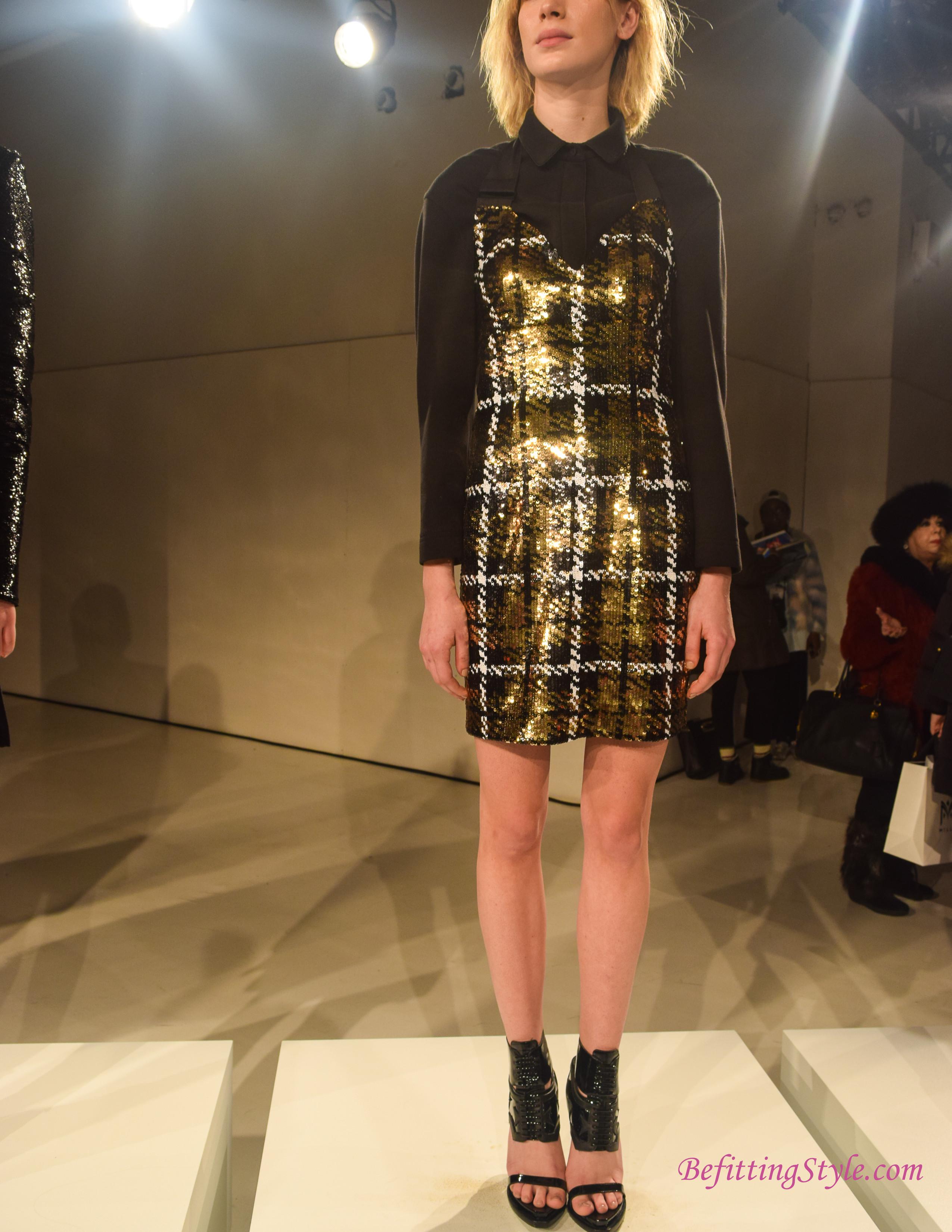 NYFW FW16 O'2nd Sequin Halter Dress