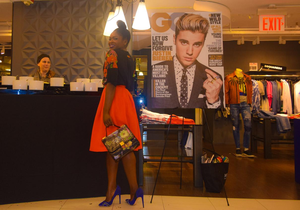 Befitting Style GQ Bloomingdale 3-10-16 Red Full Skirt 2