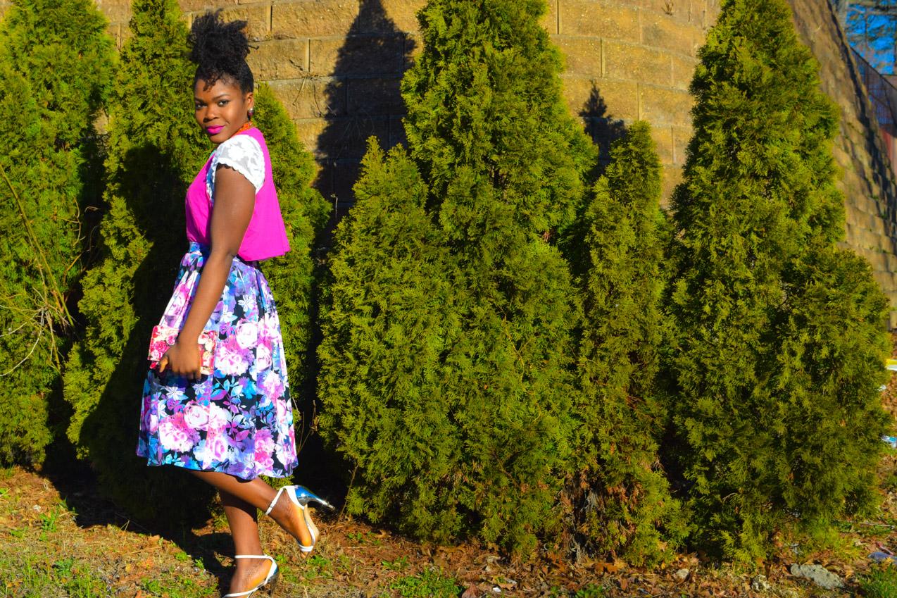 Befitting Style Oyinkan Wearing Floral Full Skirt 10