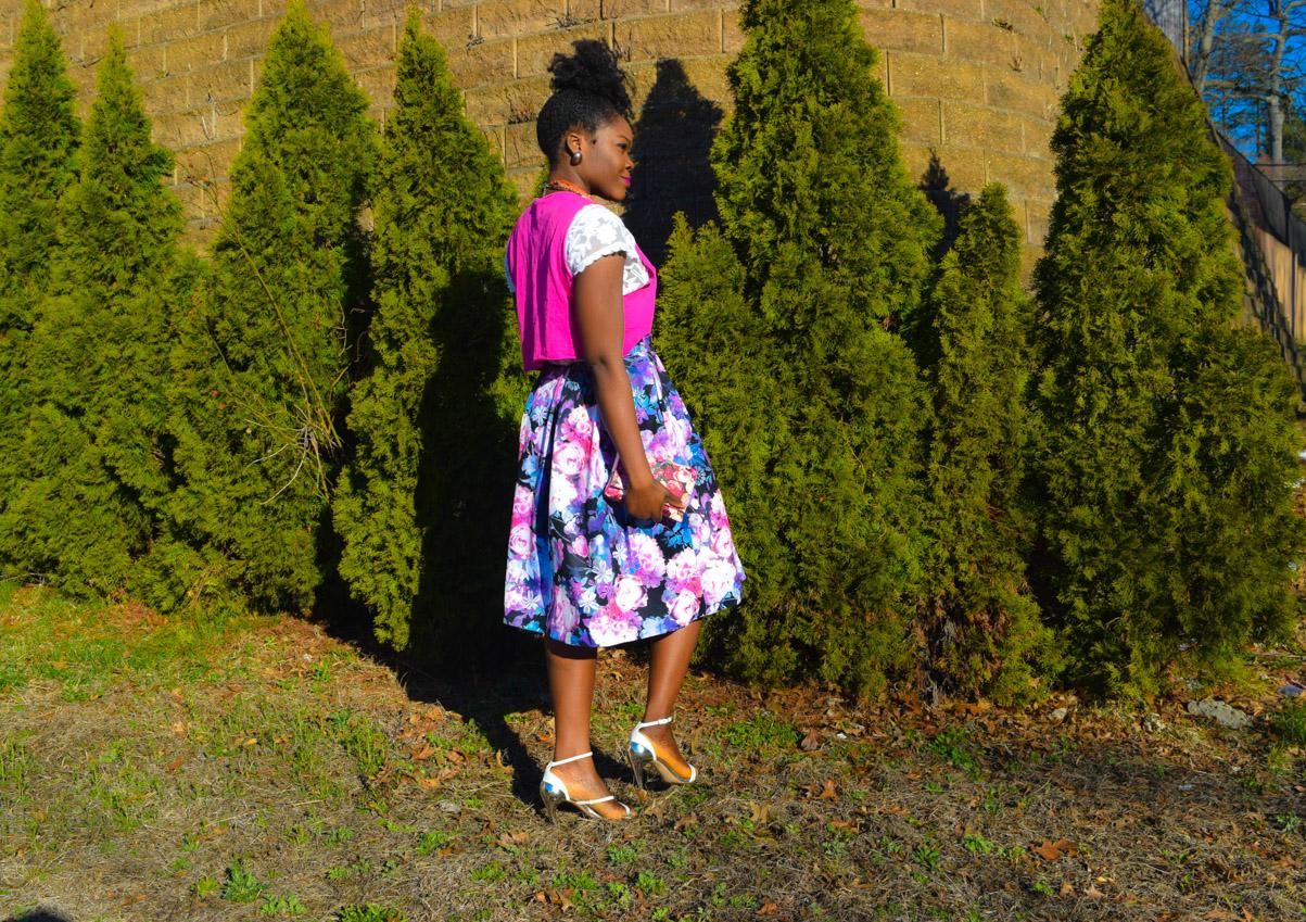 Befitting Style Oyinkan Wearing Floral Full Skirt 11