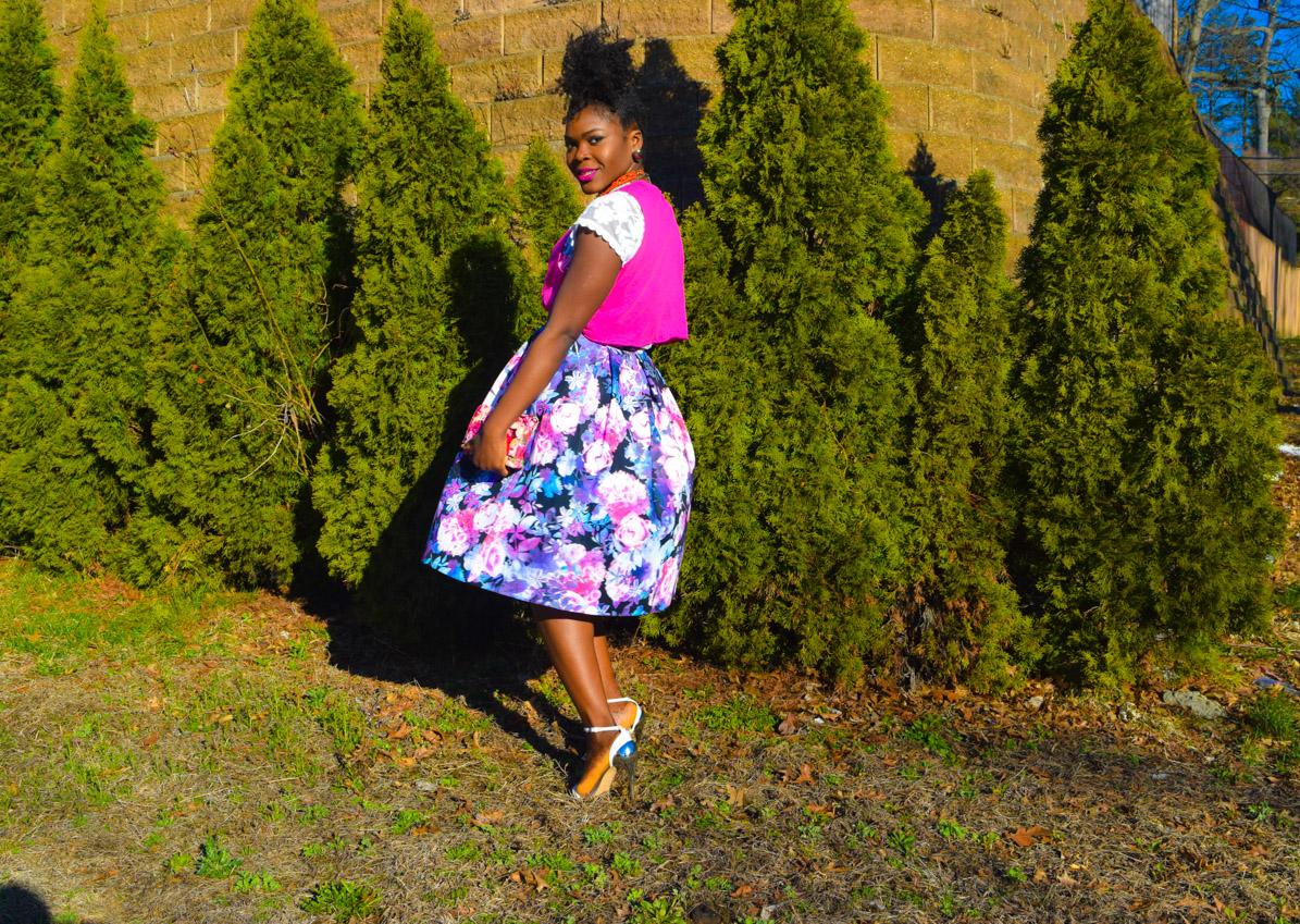 Befitting Style Oyinkan Wearing Floral Full Skirt 13