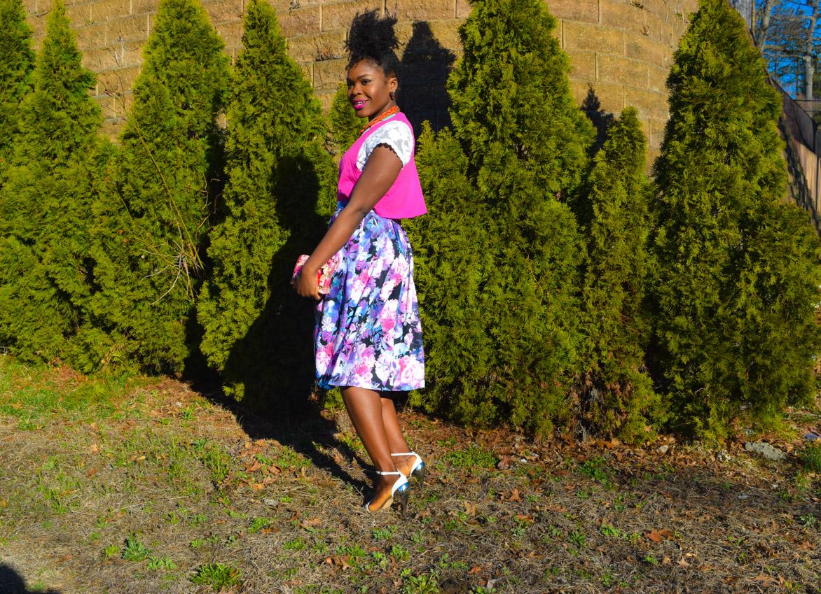 Befitting Style Oyinkan Wearing Floral Full Skirt 14