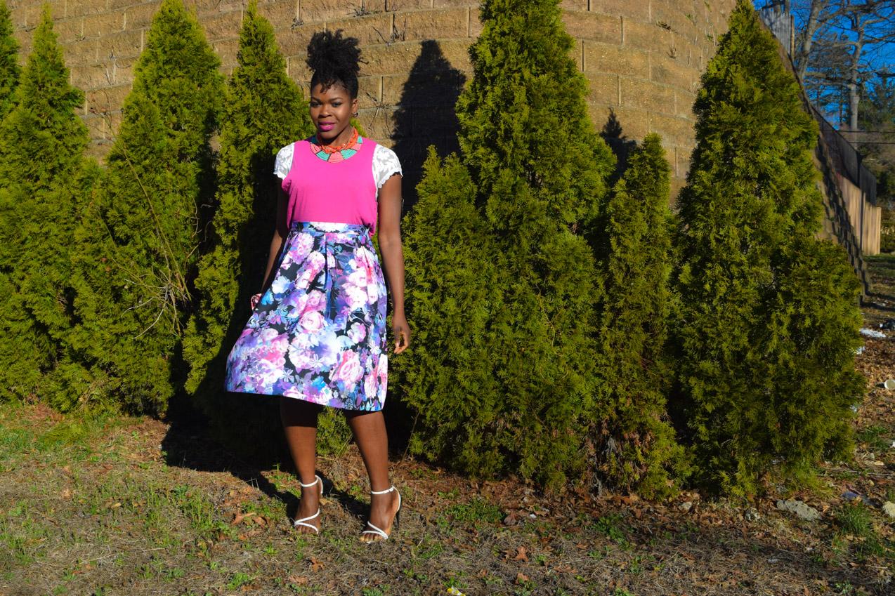 Befitting Style Oyinkan Wearing Floral Full Skirt 2