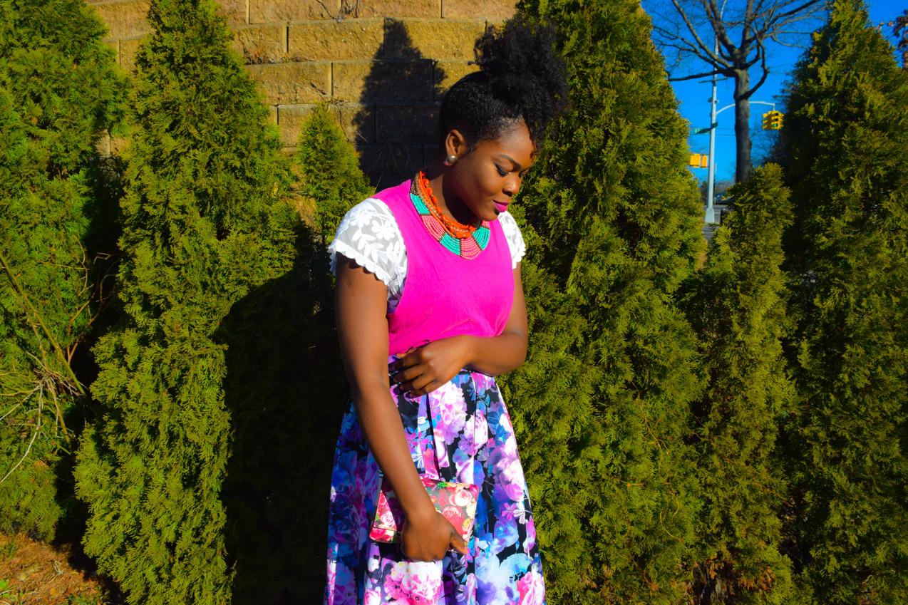Befitting Style Oyinkan Wearing Floral Full Skirt 24
