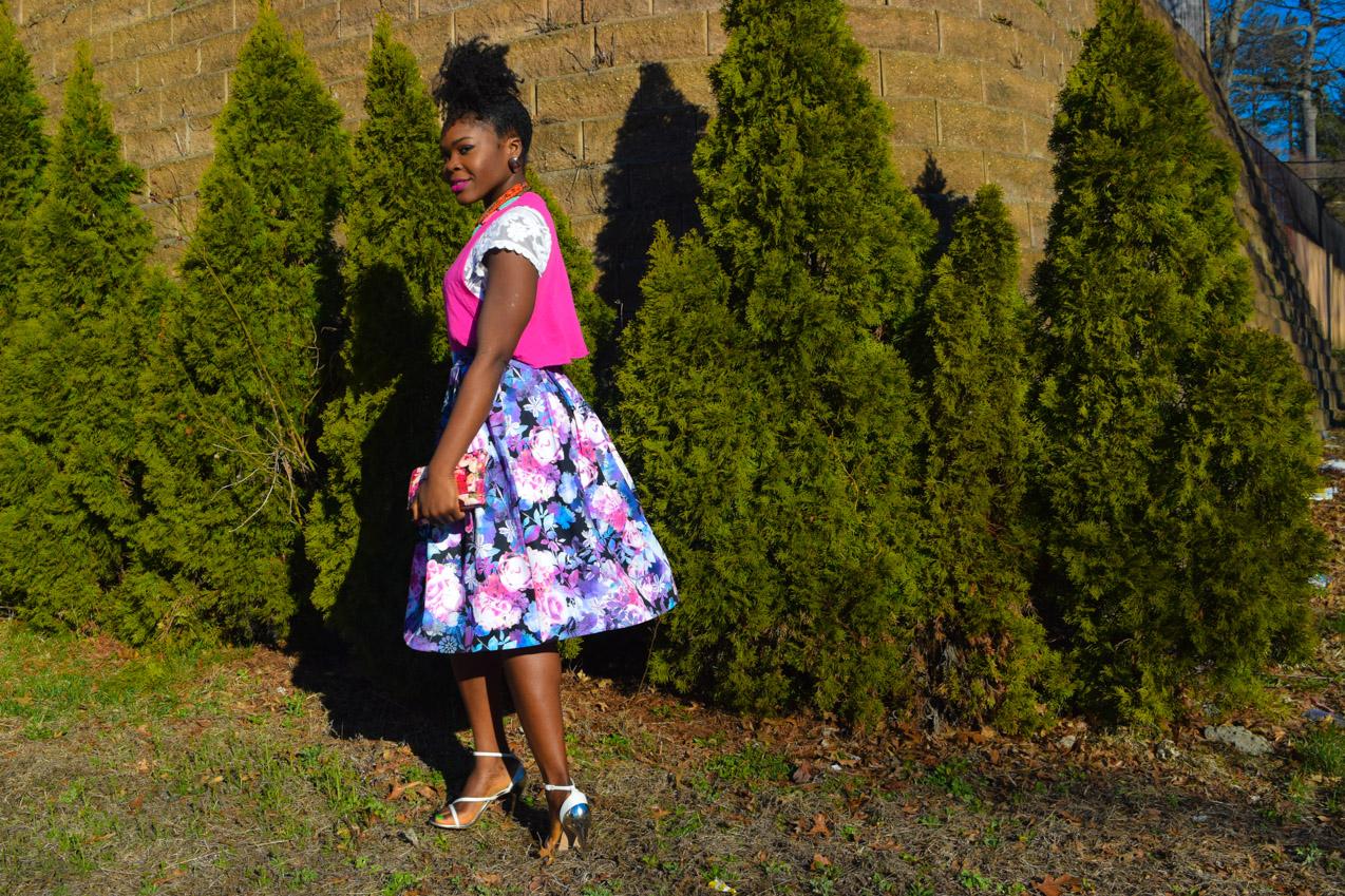 Befitting Style Oyinkan Wearing Floral Full Skirt 5
