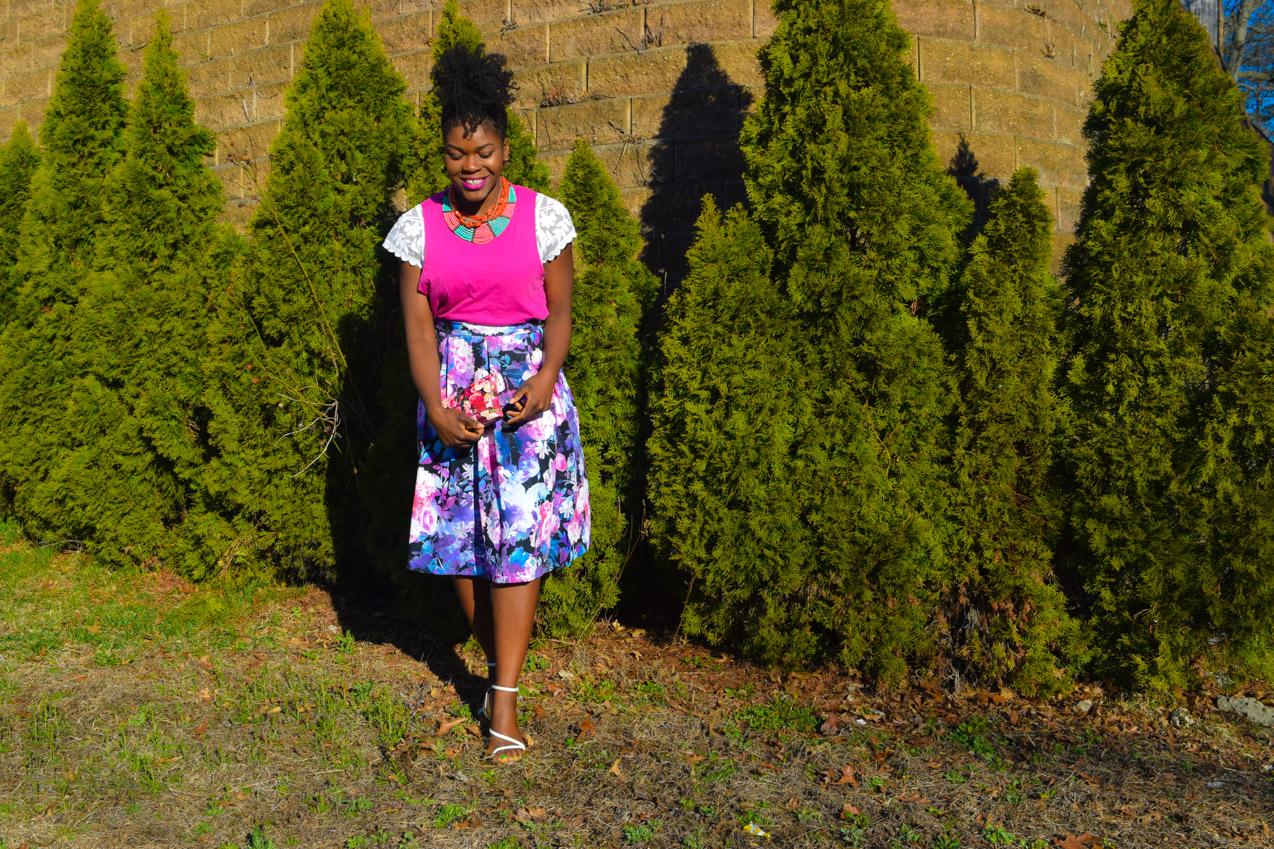 Befitting Style Oyinkan Wearing Floral Full Skirt 6