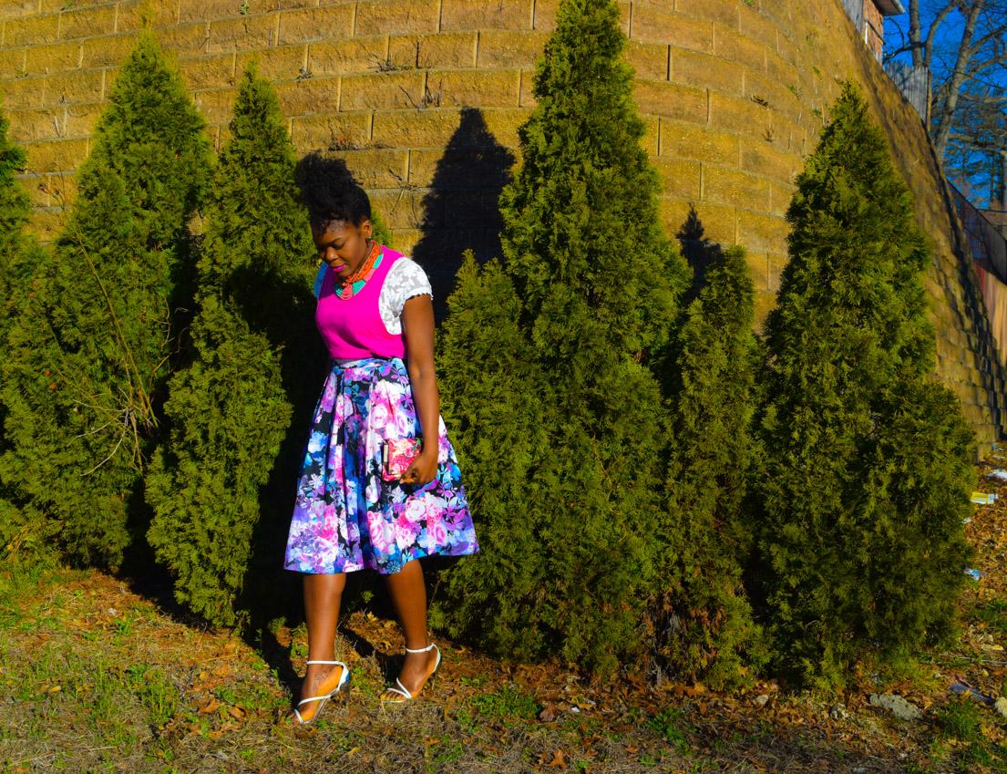 Befitting Style Oyinkan Wearing Floral Full Skirt 9