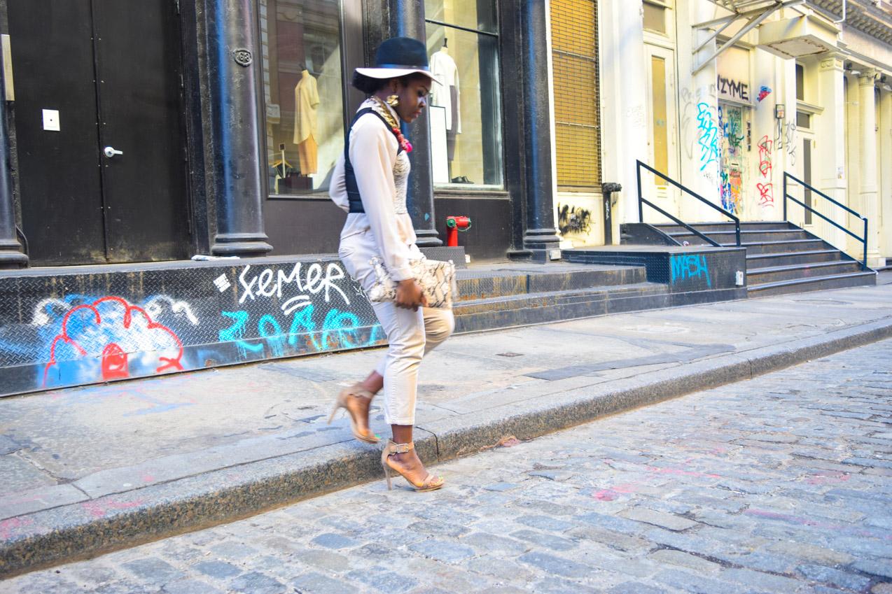 Befitting Style Oyinkan Wearing Taupe and Black 8