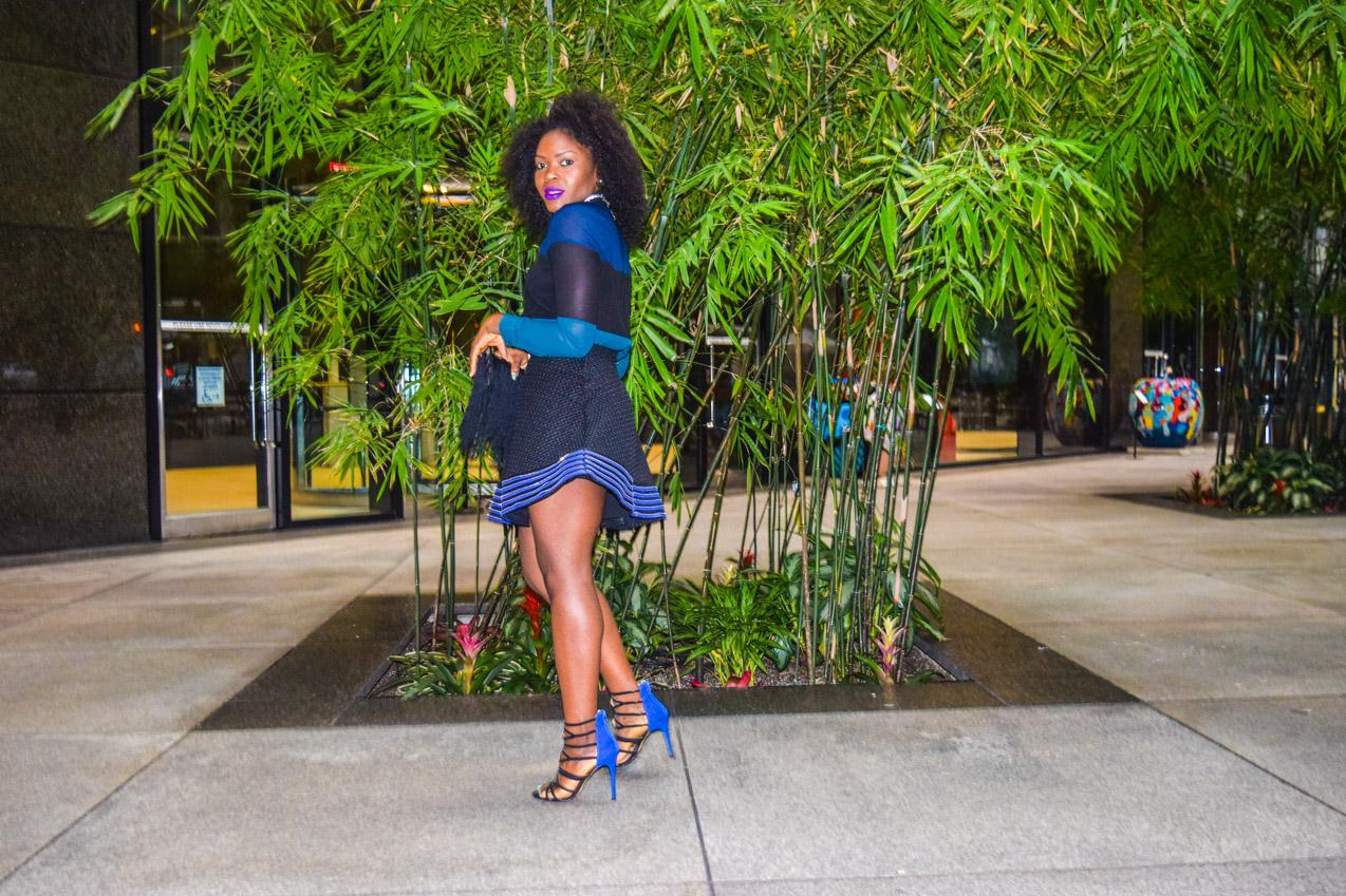 Befitting Style Oyinkan Wearing black blue skirt black blue shirt 18