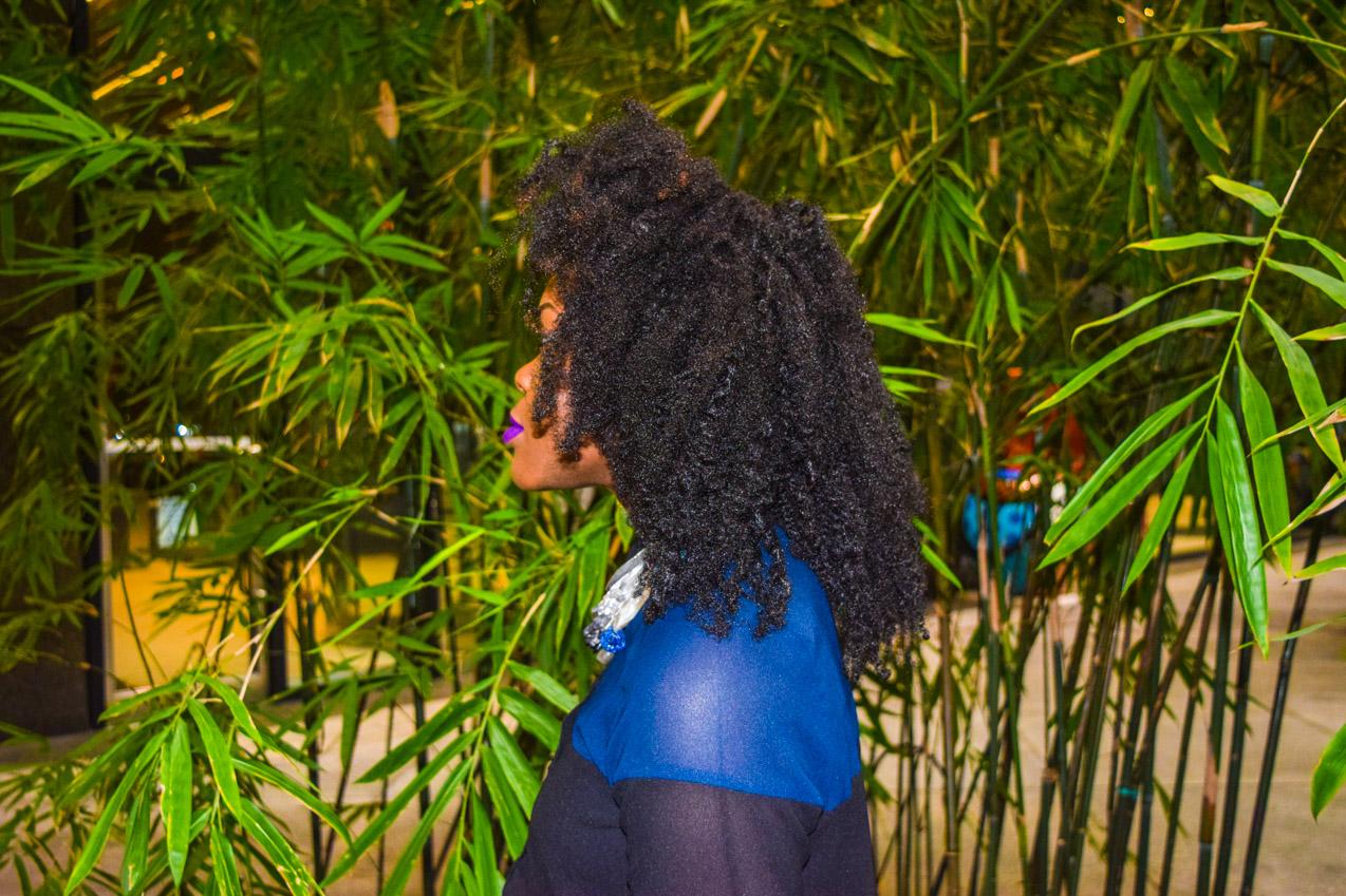 Befitting Style Oyinkan Wearing black blue skirt black blue shirt 21