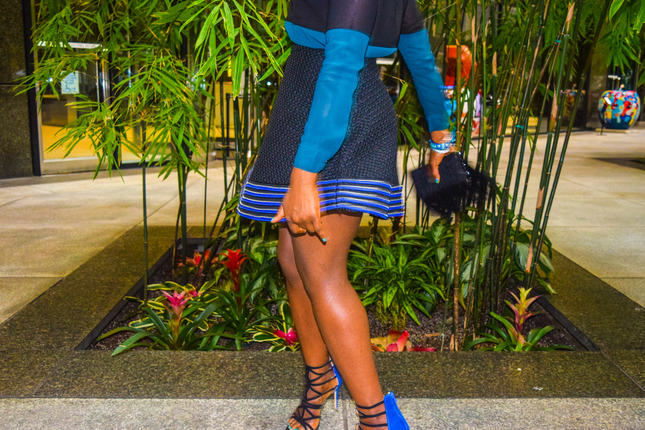 Befitting Style Oyinkan Wearing black blue skirt black blue shirt 30