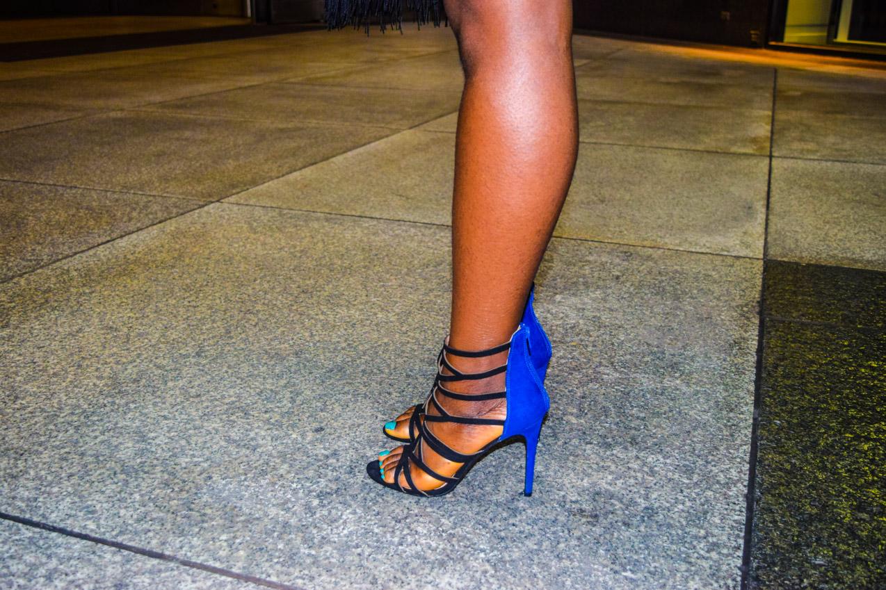 Befitting Style Oyinkan Wearing black blue skirt black blue shirt 32