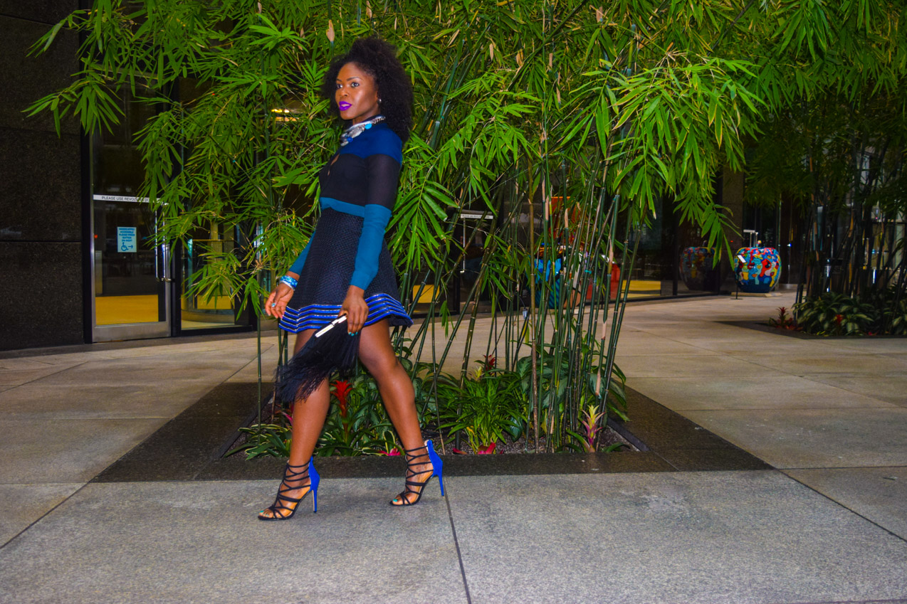 Befitting Style Oyinkan Wearing black blue skirt black blue shirt 4