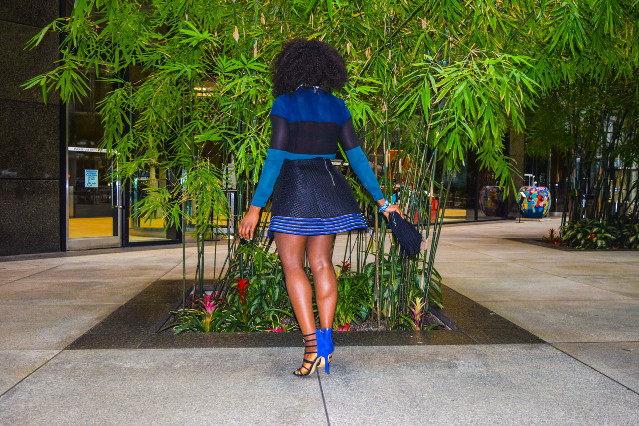 Befitting Style Oyinkan Wearing black blue skirt black blue shirt 7