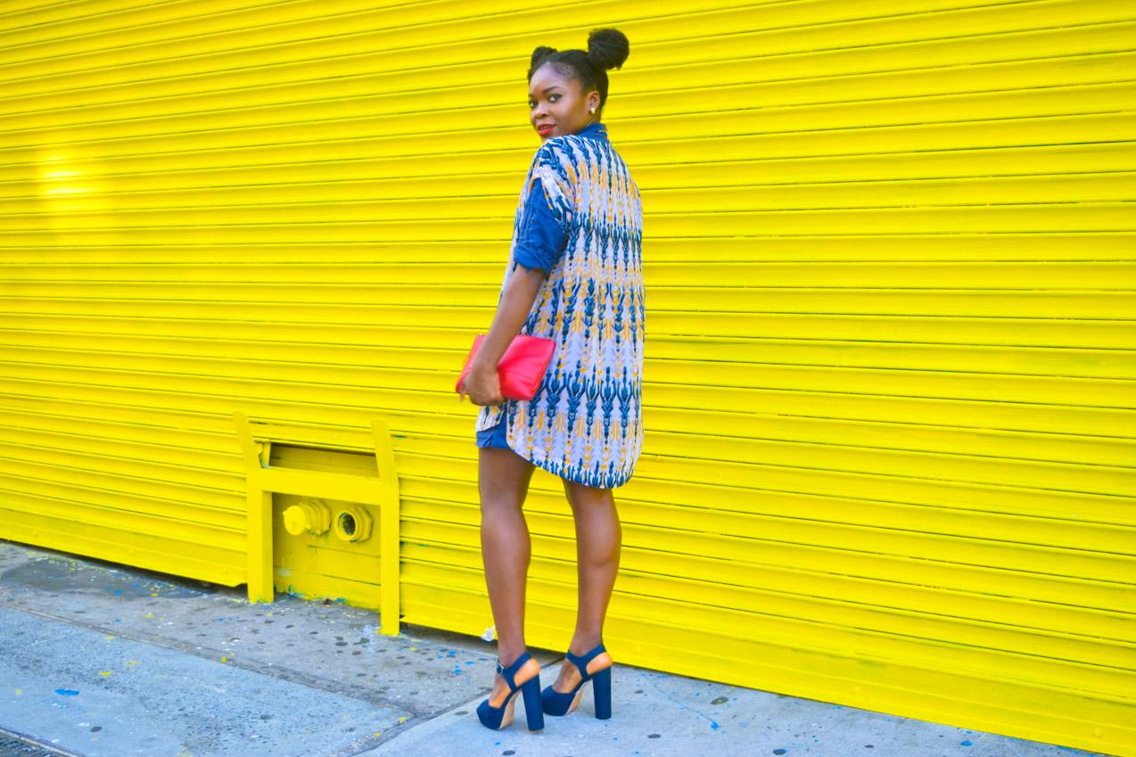 Befitting Style Oyinkan Wearing Summer Layers Shirtdress Sheer Dress 1