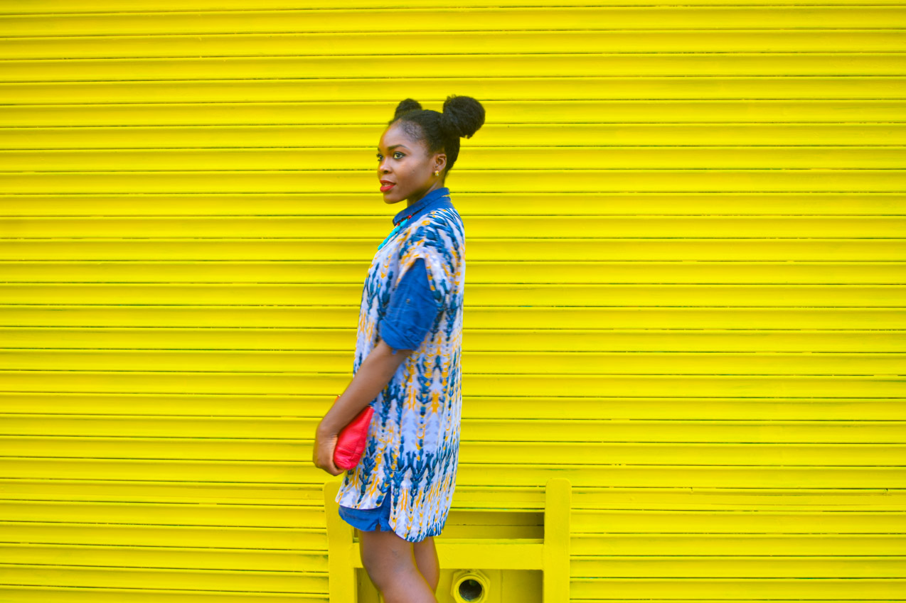 Befitting Style Oyinkan Wearing Summer Layers Shirtdress Sheer Dress 11