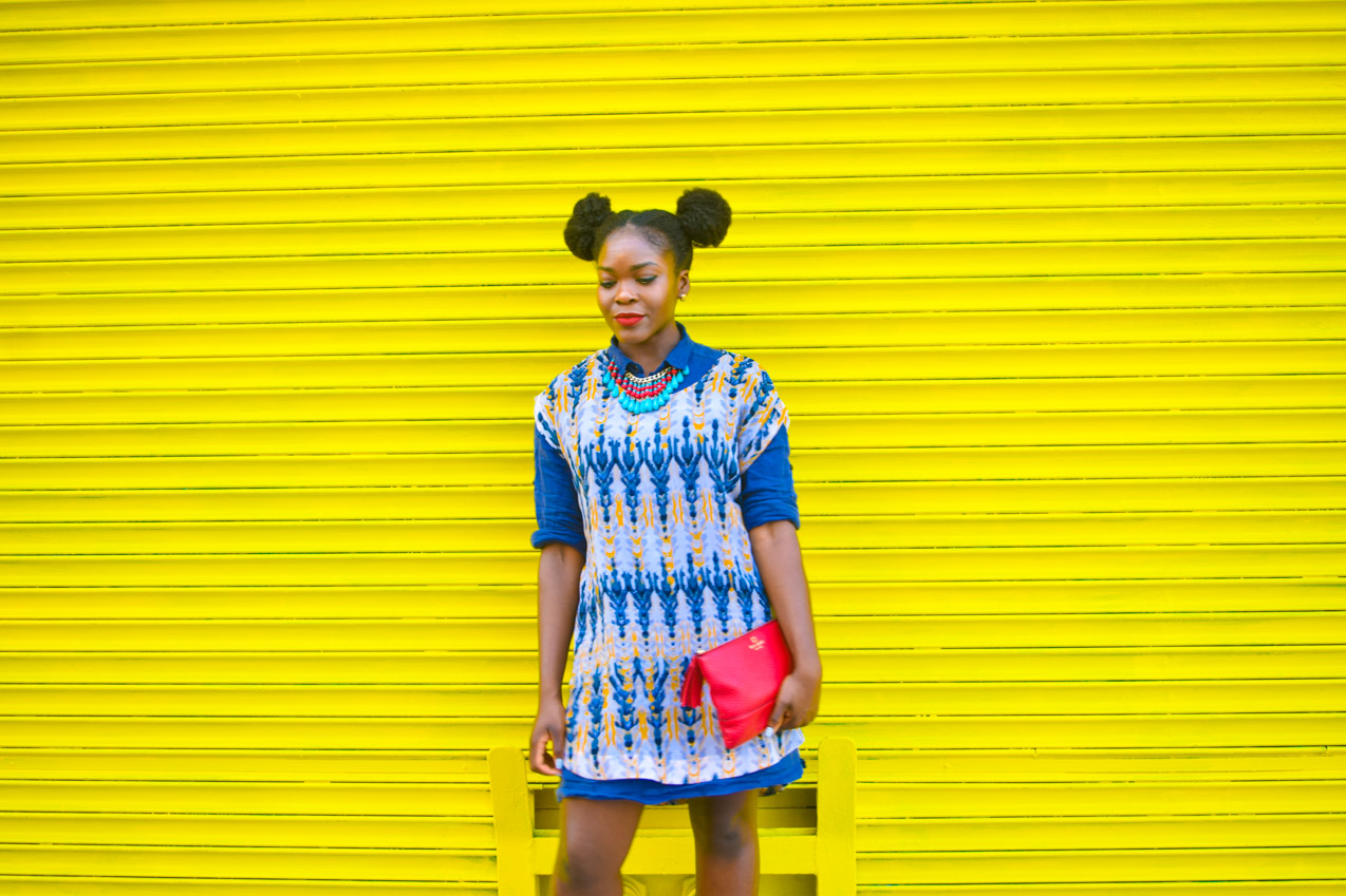 Befitting Style Oyinkan Wearing Summer Layers Shirtdress Sheer Dress 12