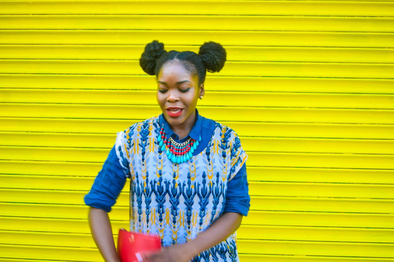 Befitting Style Oyinkan Wearing Summer Layers Shirtdress Sheer Dress 18