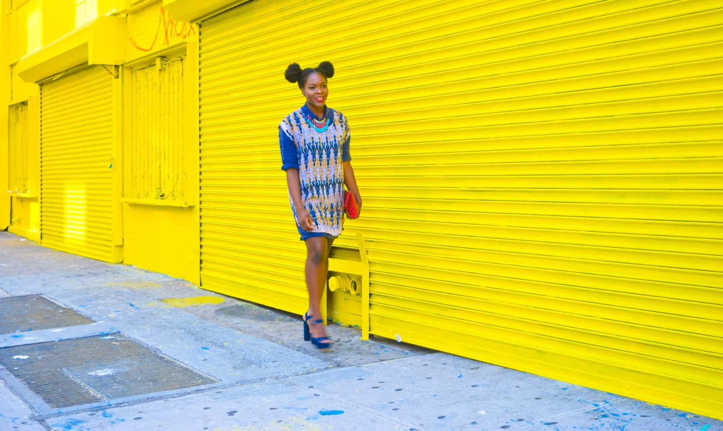 Befitting Style Oyinkan Wearing Summer Layers Shirtdress Sheer Dress 4