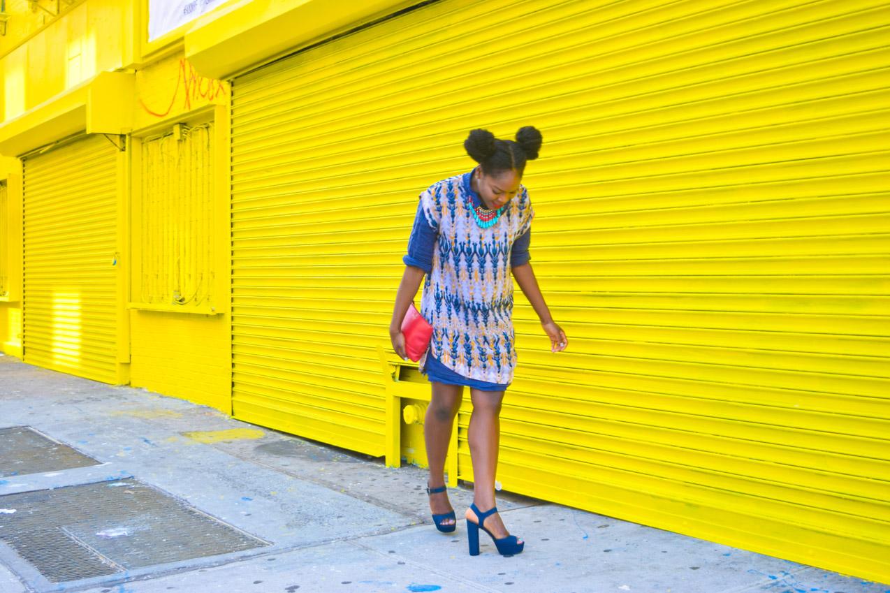 Befitting Style Oyinkan Wearing Summer Layers Shirtdress Sheer Dress 6