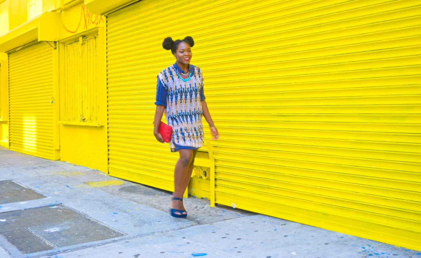 Befitting Style Oyinkan Wearing Summer Layers Shirtdress Sheer Dress 7