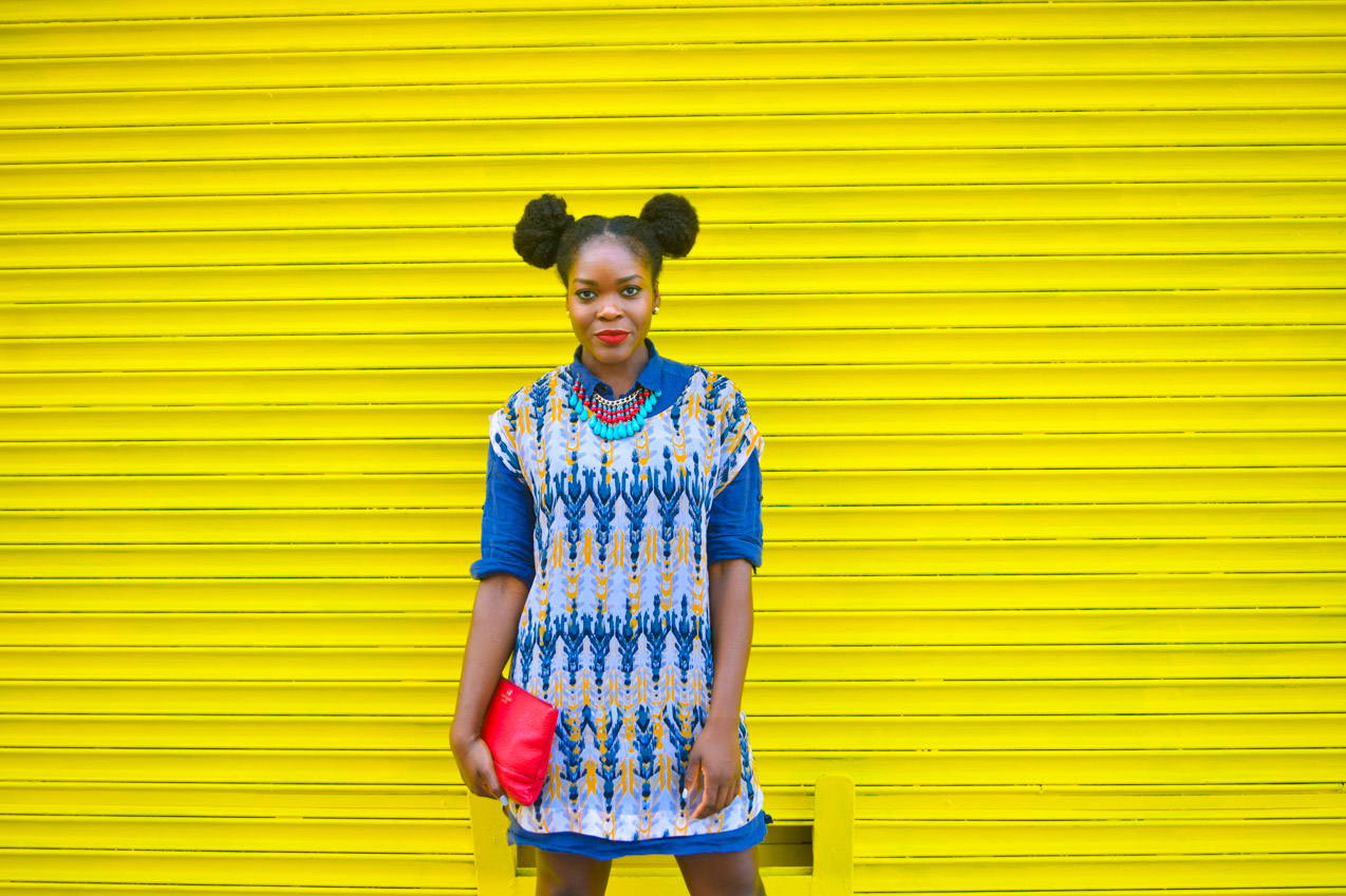 Befitting Style Oyinkan Wearing Summer Layers Shirtdress Sheer Dress 8
