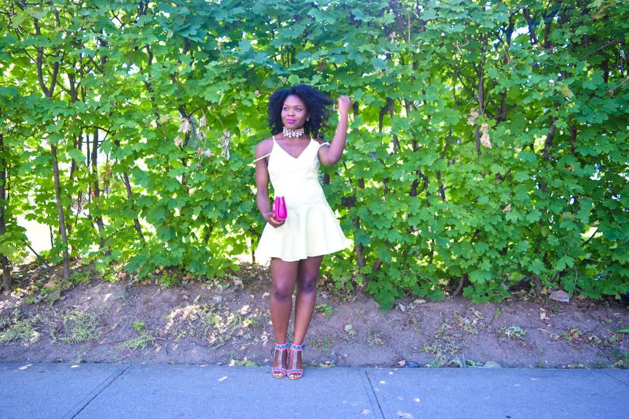 Befitting Style Oyinkan Wearing Yellow Summer Dress 20
