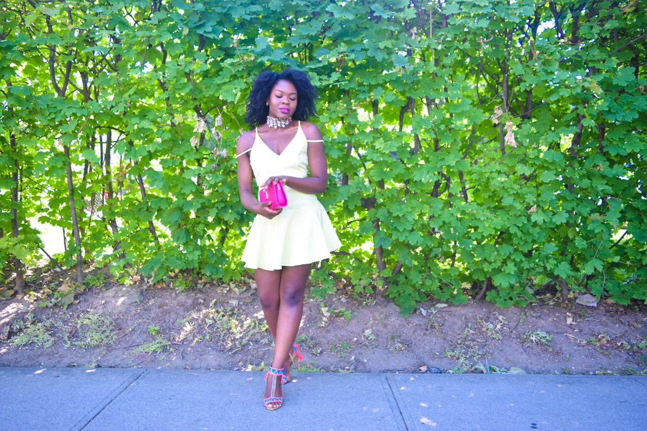 Befitting Style Oyinkan Wearing Yellow Summer Dress 21
