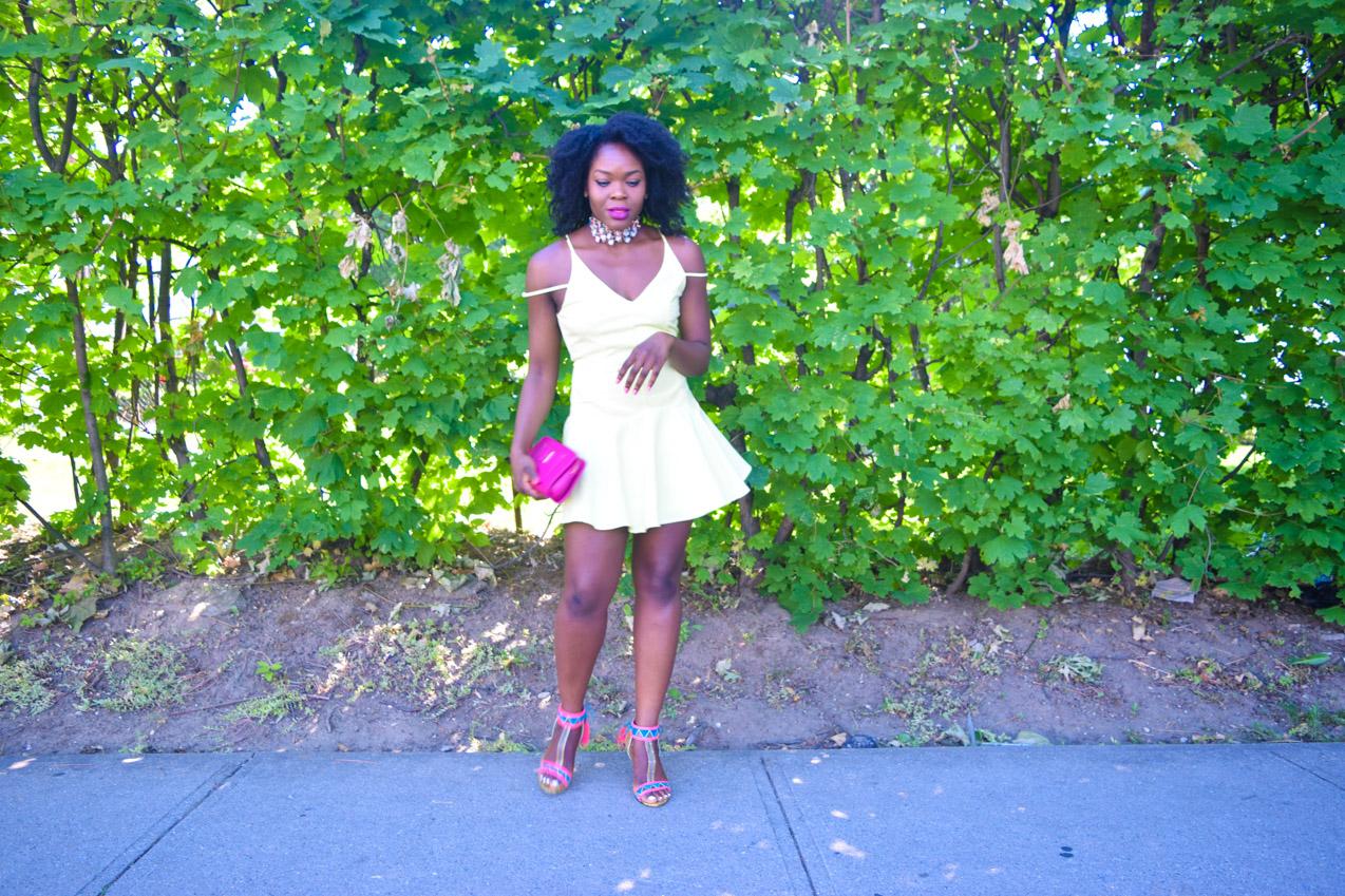 Befitting Style Oyinkan Wearing Yellow Summer Dress 22