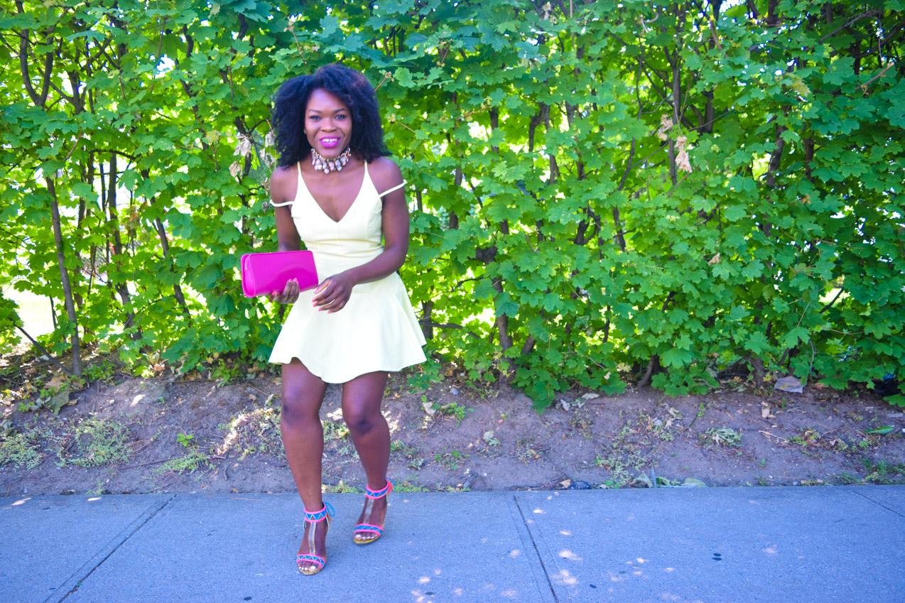 Befitting Style Oyinkan Wearing Yellow Summer Dress 25
