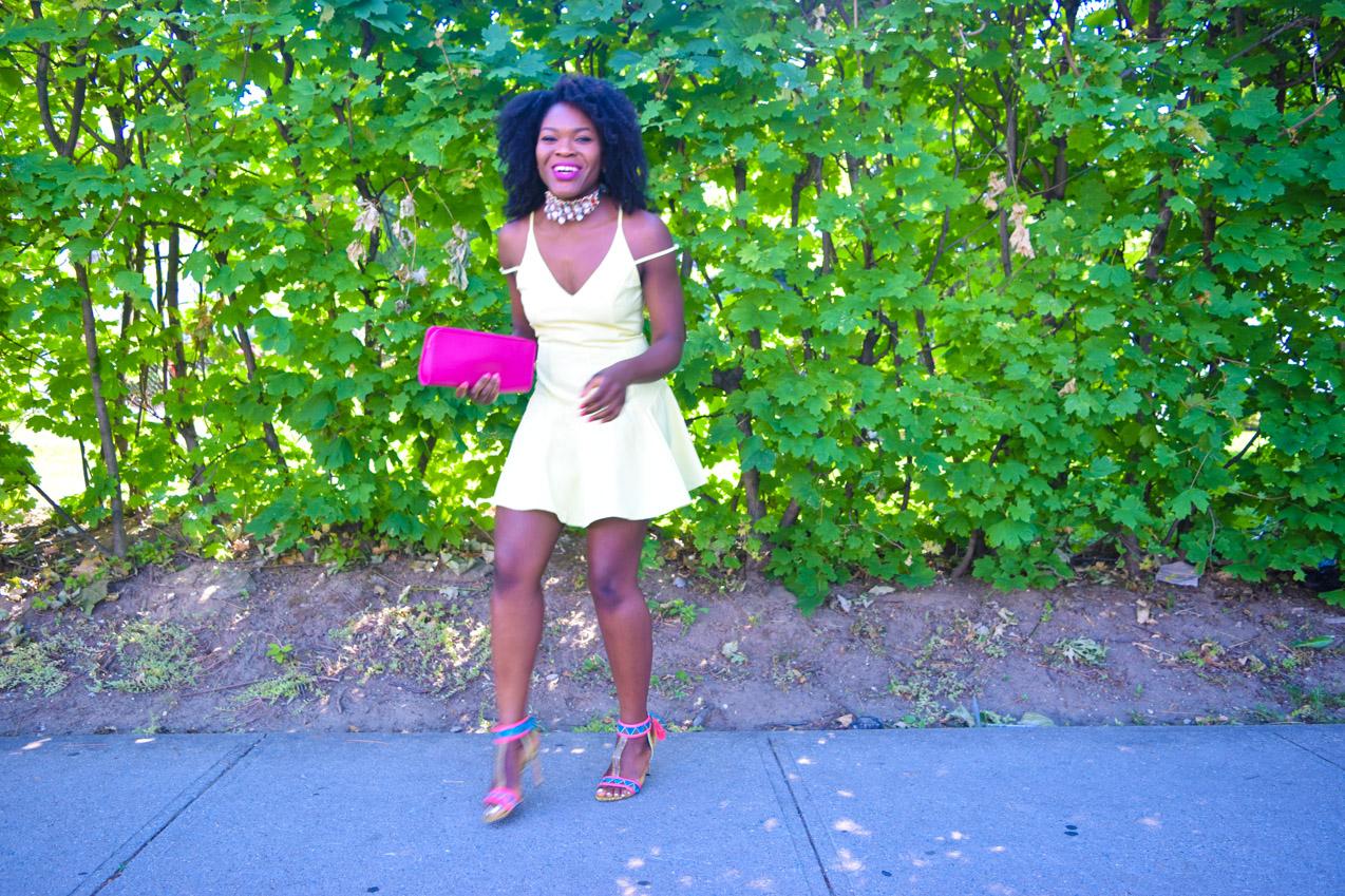 Befitting Style Oyinkan Wearing Yellow Summer Dress 26
