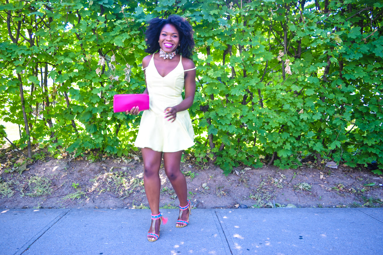 Befitting Style Oyinkan Wearing Yellow Summer Dress 27