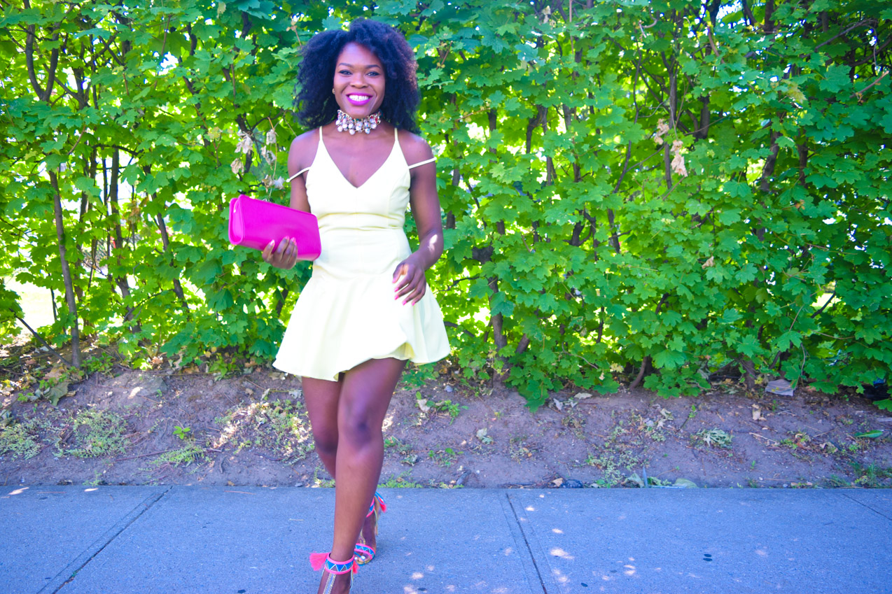 Befitting Style Oyinkan Wearing Yellow Summer Dress 28