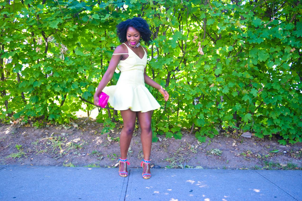 Befitting Style Oyinkan Wearing Yellow Summer Dress 5