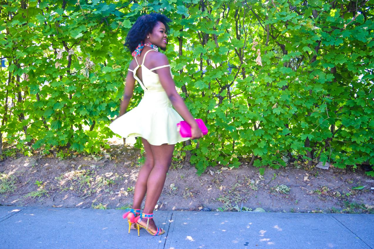Befitting Style Oyinkan Wearing Yellow Summer Dress 7