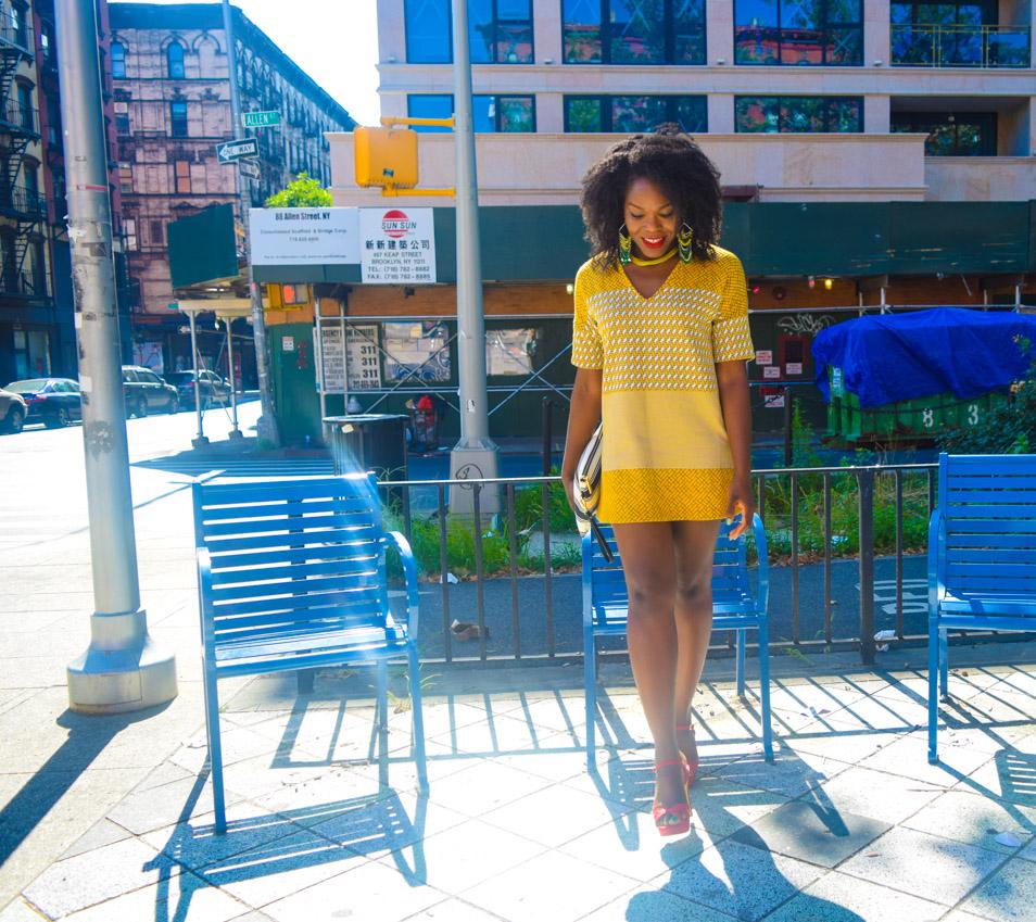 Befitting Style Oyinkan Wearing Yellow Printed Dress 11