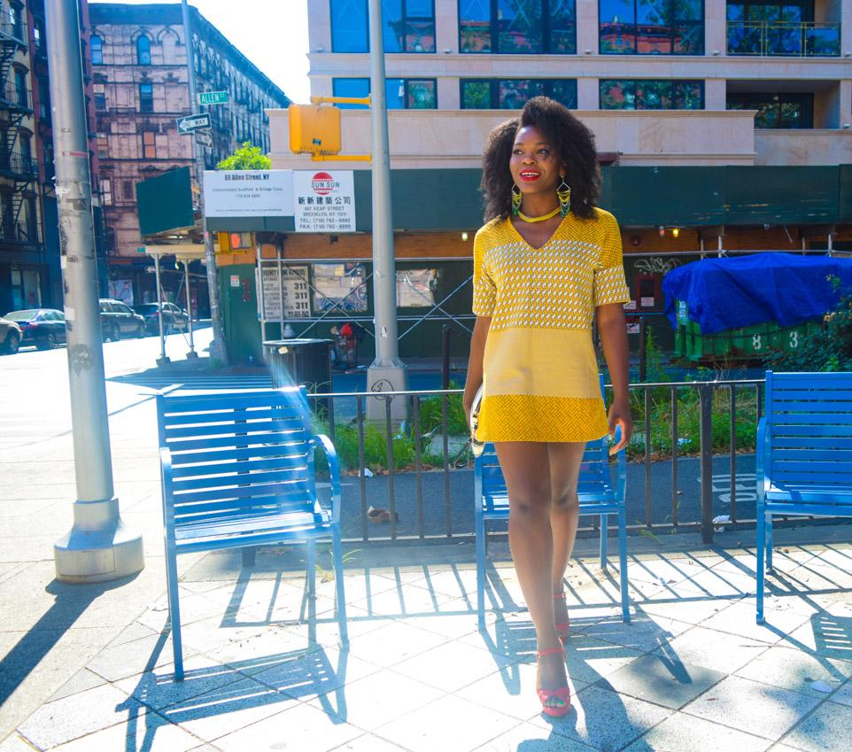 Befitting Style Oyinkan Wearing Yellow Printed Dress 12