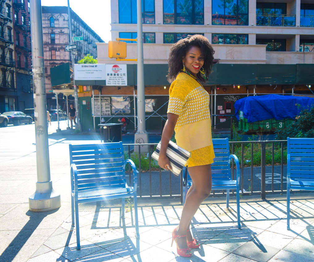 Befitting Style Oyinkan Wearing Yellow Printed Dress 16