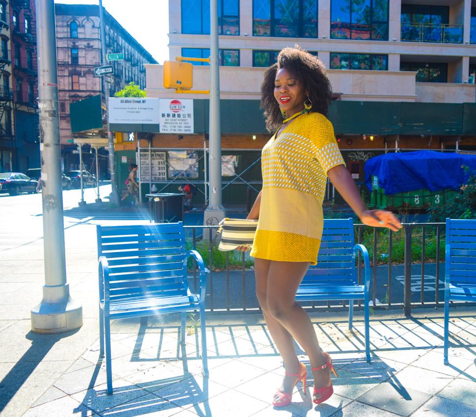 Befitting Style Oyinkan Wearing Yellow Printed Dress 18
