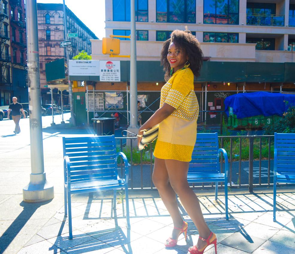 Befitting Style Oyinkan Wearing Yellow Printed Dress 20