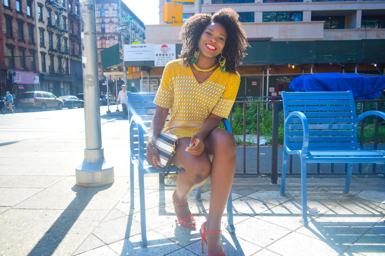 Befitting Style Oyinkan Wearing Yellow Printed Dress 4