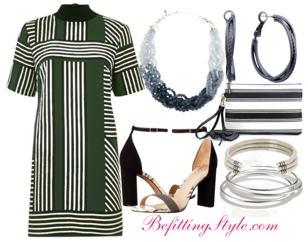 Befitting Style How To Wear Striped T-Shirt Dresses 1