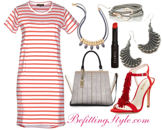 Befitting Style How To Wear Striped T-Shirt Dresses 2