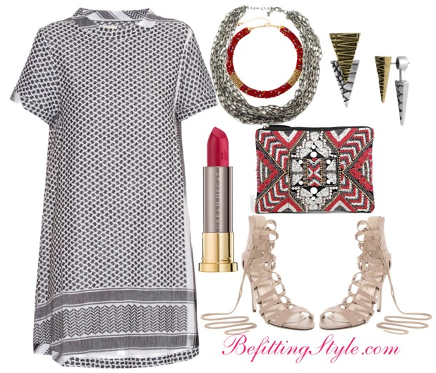 Befitting Style How To Wear Striped T-Shirt Dresses 3