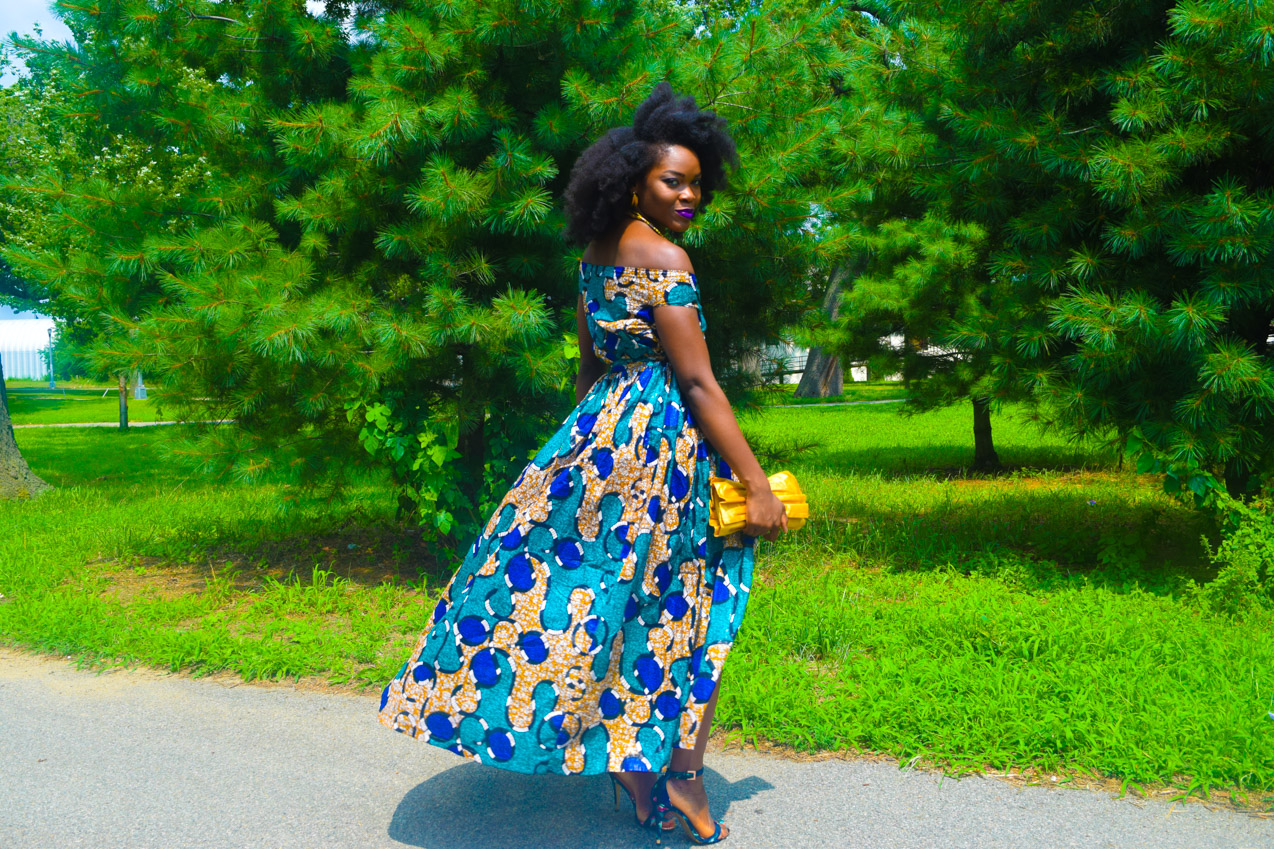 Befitting Style Oyinkan Wearing Ankara Dress Wedding Guest 10